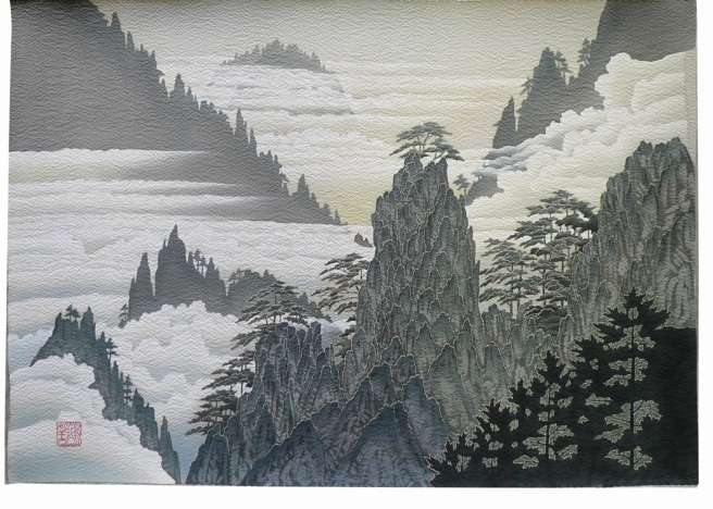 Japanese Landscape Drawing Chinese Landscape Painting-b